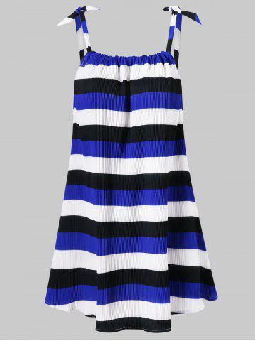 Stripe Ribbed Tunic Tank Top