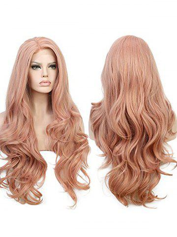 Shops Long Side Parting Wavy Lace Front Party Synthetic Wig