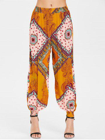 Outfit Ethnic Print Harem Trousers