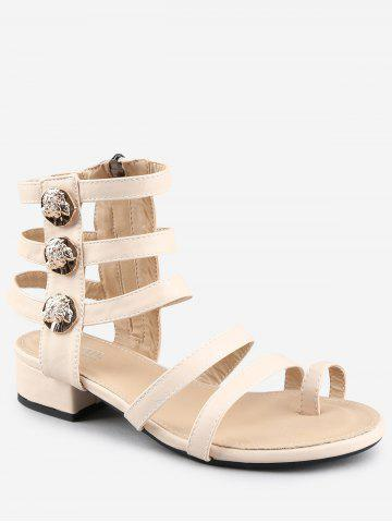 Outfit Low Heel Gladiator Strappy Thong Sandals