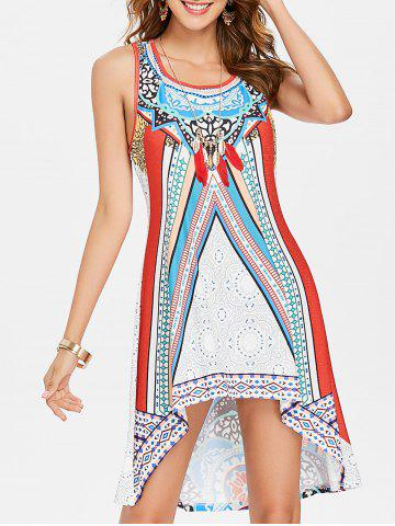 Affordable Ethnic Print Racerback Tank Dress