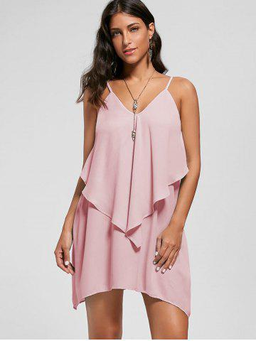 Overlay Crescent Hem Slip Dress