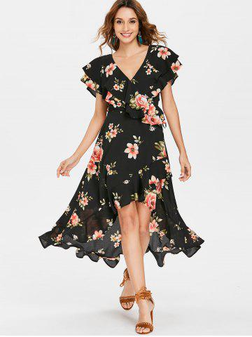 Floral Flounced Dress