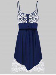 Crochet Panel Slip Dress -