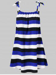 Stripe Ribbed Tunic Tank Top -