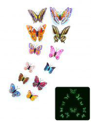 12Pcs/Set Glow in the Dark Butterfly PVC Wall Sticker -