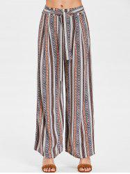 Wide Leg Bohemian Pants with Belt -