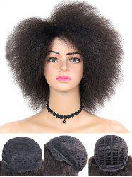 Medium Side Bang Shaggy Afro Curly Synthetic Wig -