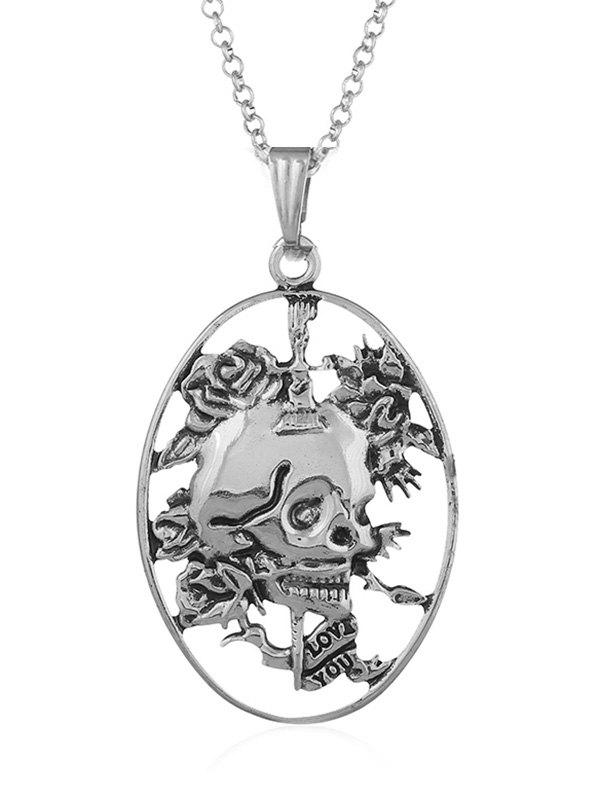 Sale Carved Skull Decorative Pendant Necklace