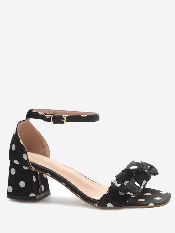 Latest Polka Dot Chunky Heel Pumps