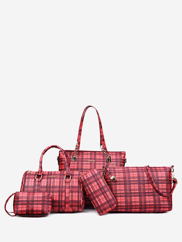Affordable 5 Pieces Plaid Pattern Commuter Bags