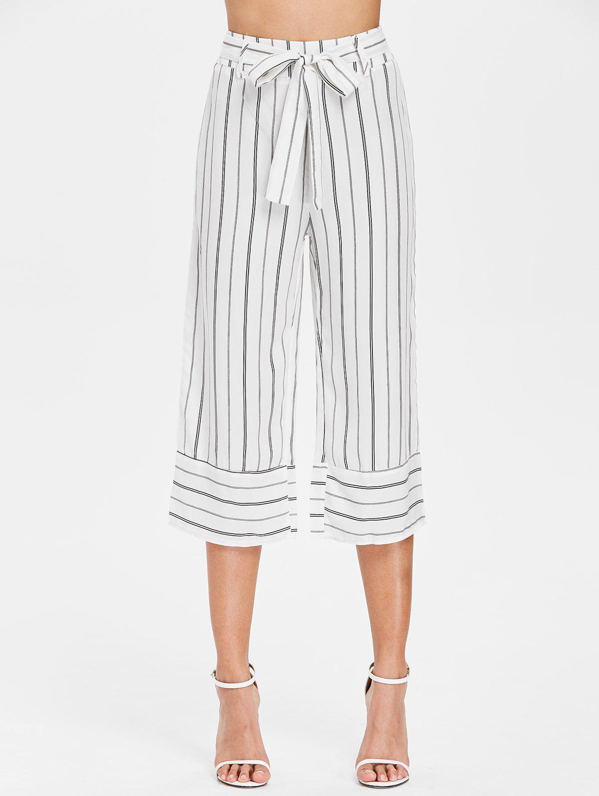 Shops Striped High Waist Gaucho Pants