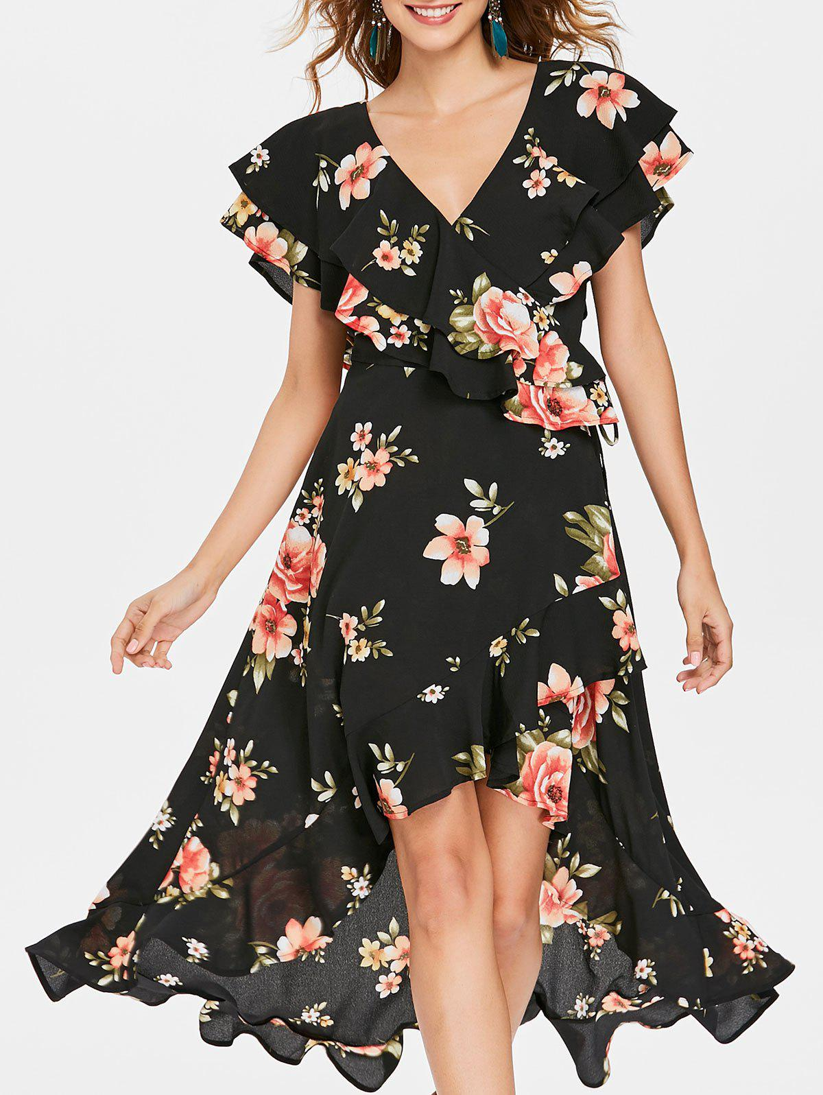 Shop Floral Flounced Dress