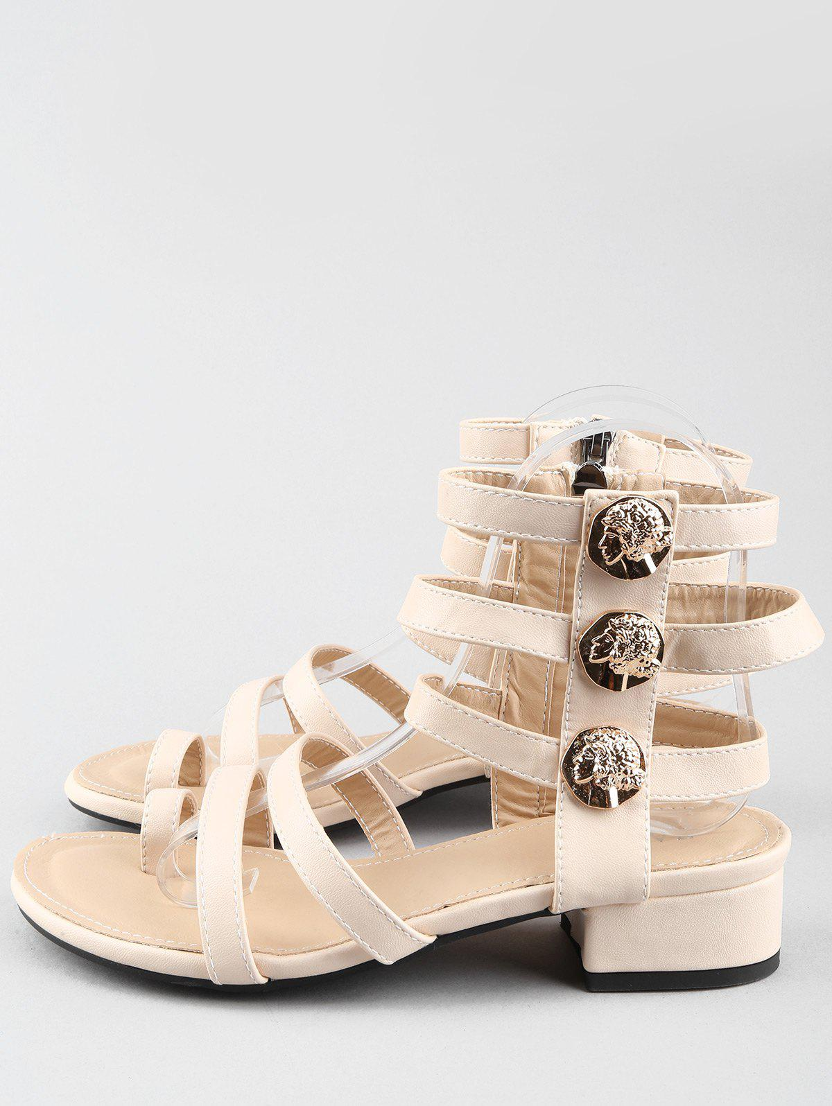 Latest Low Heel Gladiator Strappy Thong Sandals
