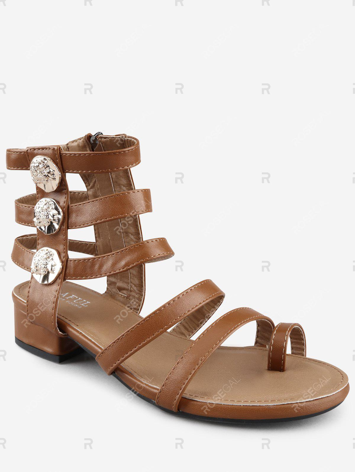 fbf4be4f3 Latest Low Heel Gladiator Strappy Thong Sandals
