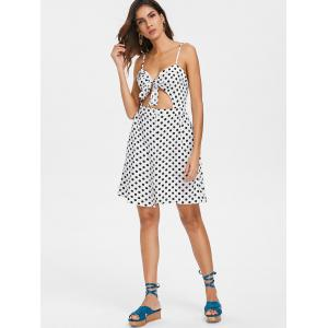 Knotted Polka Dot Cut Out Dress -