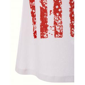 American Flag Sleeveless Mini Tank Dress -