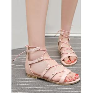 Buy Online Plus Size Lace Up Crisscross Chic Vacation Sandals - PINK Eastbay For Sale Pay With Visa 3AYNjOiRX