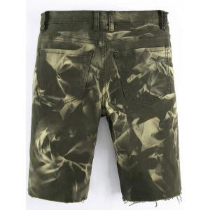 Raw Edge Zip Fly Casual Shorts -