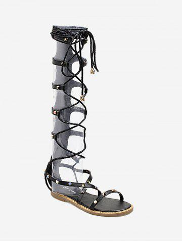 Unique Strappy Lace Up Gladiator Sandals