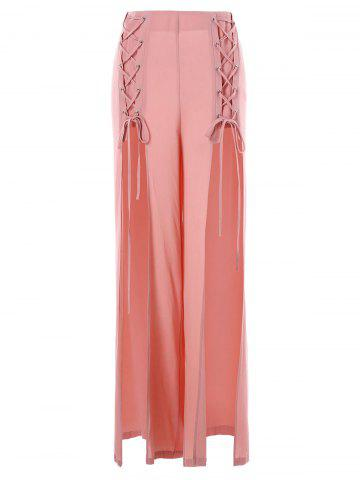 Shops Criss Cross High Slit Pants