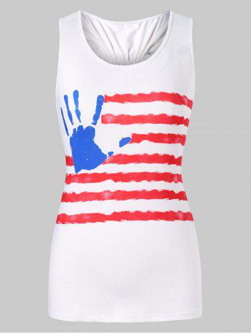 Striped Racerback Bowknot Tank Top