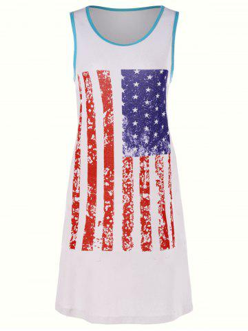 Latest American Flag Sleeveless Mini Tank Dress