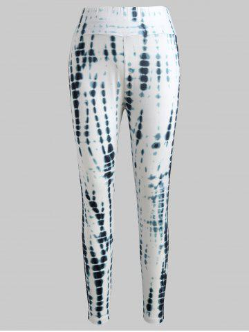 Affordable Tie Dyed Print Fitted Leggings