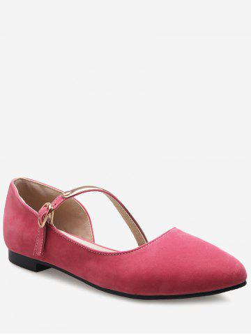 Plus Size Flat Heel Pointed Toe Sandals - WATERMELON PINK Cheap Professional UVvgb
