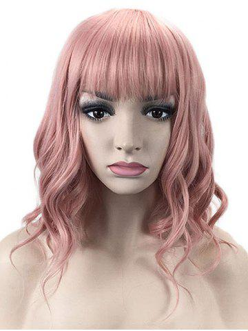 Fashion Medium Neat Bang Wavy Lolita Party Synthetic Wig
