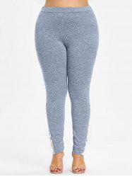 Crochet Lace Bottom Leggings taille plus -