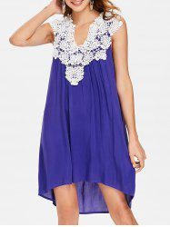 Crochet Sleeveless Shift Dress -
