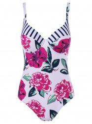 Floral Padded One Piece Bathing Suit -
