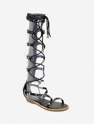 Strappy Lace Up Gladiator Sandals -