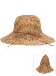 Outdoor Bowknot Foldable Beach Sun Hat -