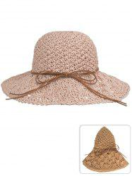 Vintage Bowknot Hand Knitting Sun Hat -