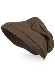Outdoor Bowknot Open Top Foldable Sun Hat -