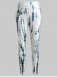 Tie Dyed Print Fitted Leggings -