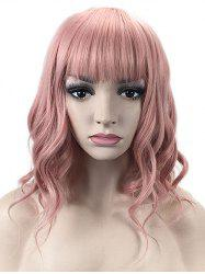 Medium Neat Bang Wavy Lolita Party Synthetic Wig -