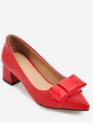 Plus Size Pointed Toe Chunky Heel Pumps -