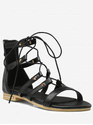 Plus Size Lace Up Crisscross Chic Vacation Sandals -