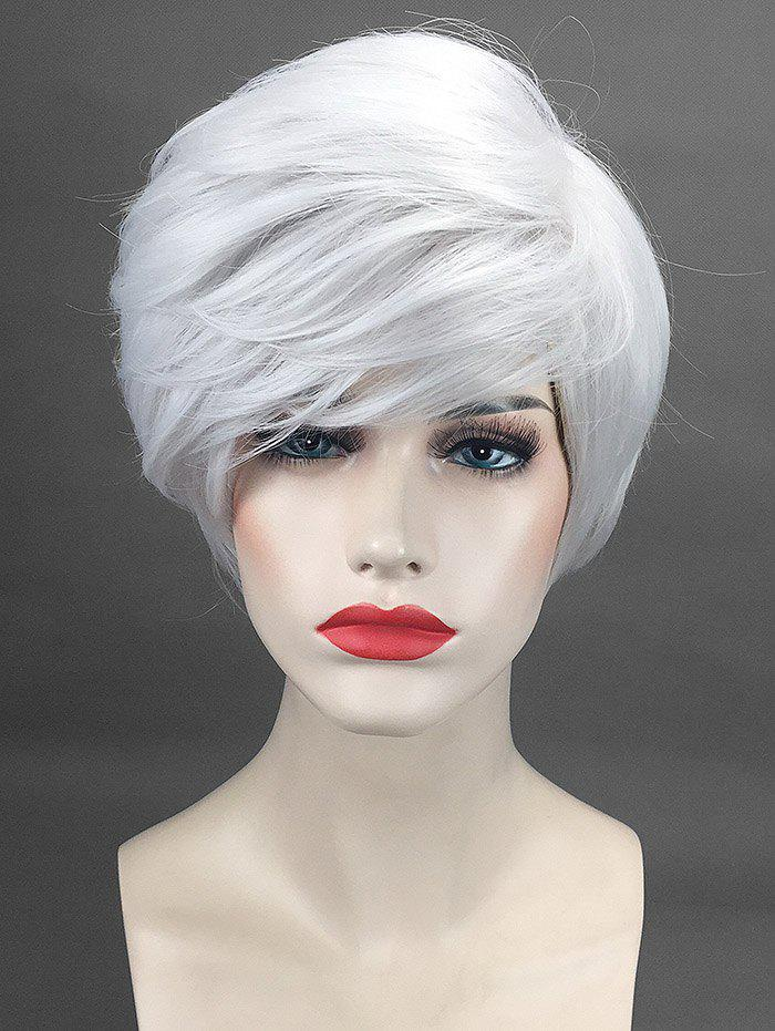 Hot Short Oblique Bang Straight Cosplay Synthetic Wig