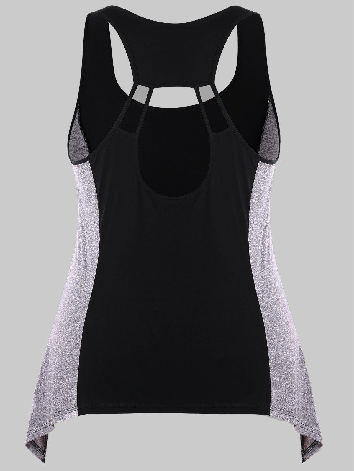 New Plus Size Back Cut Out Tank Top