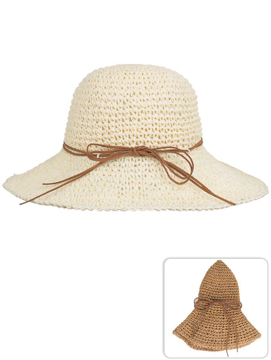Shop Outdoor Bowknot Foldable Beach Sun Hat