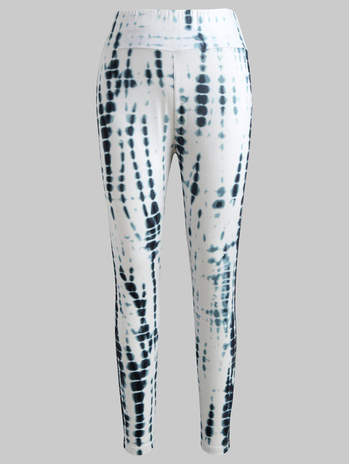 Sale Tie Dyed Print Fitted Leggings