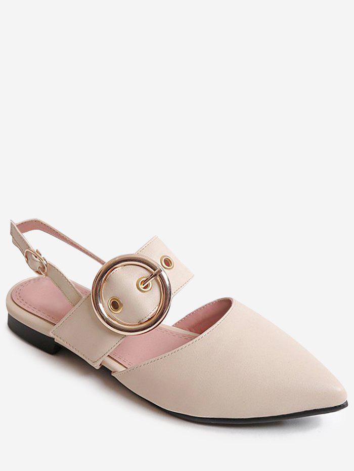 Buy Plus Size Pointed Toe Buckled Slingback Sandals