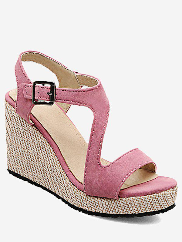 New Plus Size Espadrille Outdoor Vacation Wedge Sandals