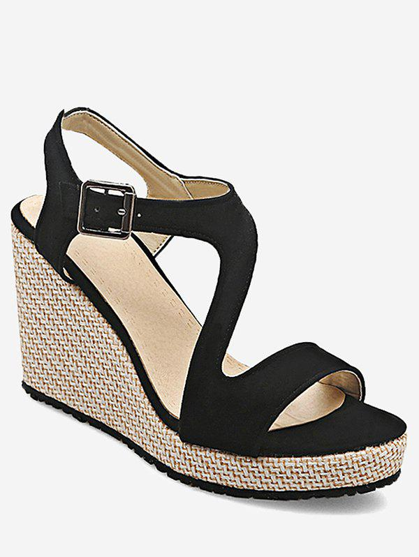 Shop Plus Size Espadrille Outdoor Vacation Wedge Sandals