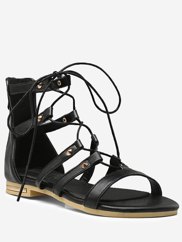 Outfits Plus Size Lace Up Crisscross Chic Vacation Sandals