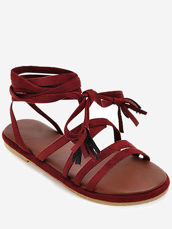 Buy Plus Size Multi Straps Chic Ankle Strap Sandals
